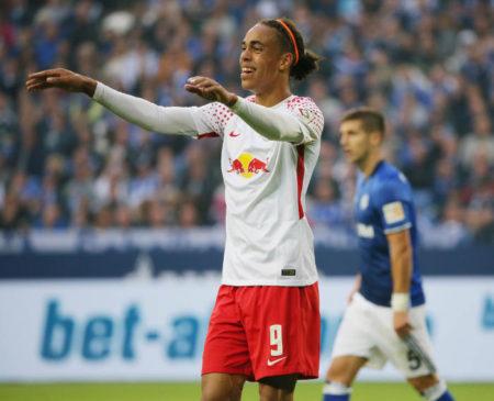 Deutsche Bundesliga, FC Schalke 04 vs. RasenBallsport Leipzig - Yussuf Poulsen (RB Leipzig). Foto: GEPA pictures/Sven Sonntag